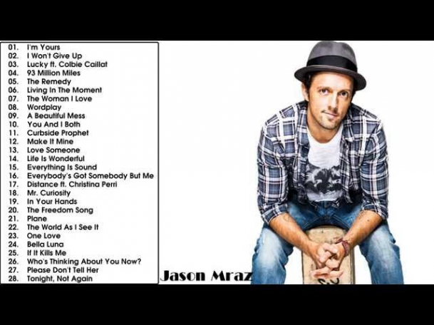 The Best Songs Of Jason Mraz (Album) || Jason Mraz's Greatest Hits