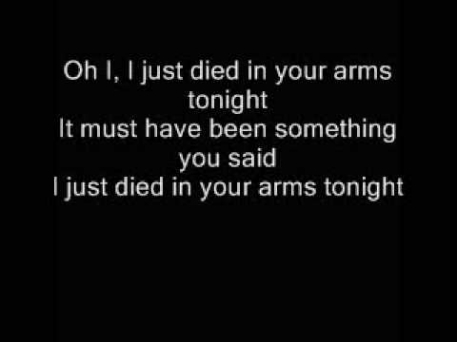 Just Died in your arms Lyrics