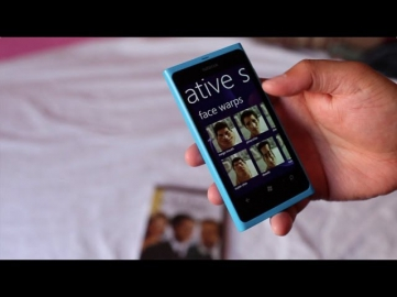Demo: Creative Studio on Nokia Lumia 800 (Windows Phone)