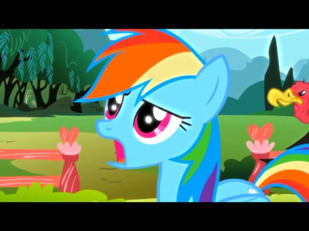 Мой AMV PMV My Little Pony: friendship is magic Rainbow dash RAP ver.1 RUS 16+