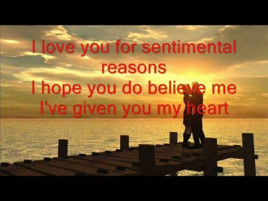 I love you (For sentimental reasons) B.B King