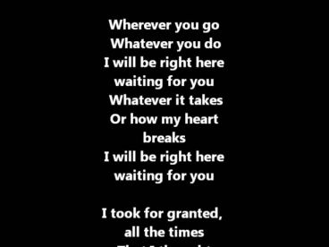 Richard Marx - Right Here Waiting For You / Lyrics ♫