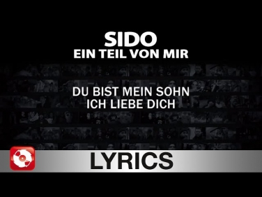 SIDO - EIN TEIL VON MIR - AGGROTV LYRICS KARAOKE  (OFFICIAL VERSION)