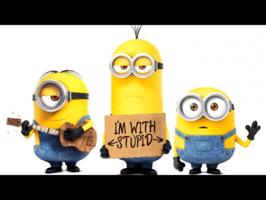 the minions - black and yellow
