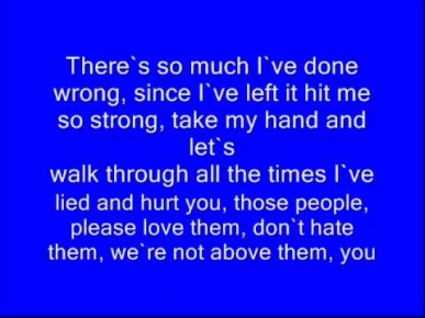 Thousand Foot Krutch-Last Words Lyrics